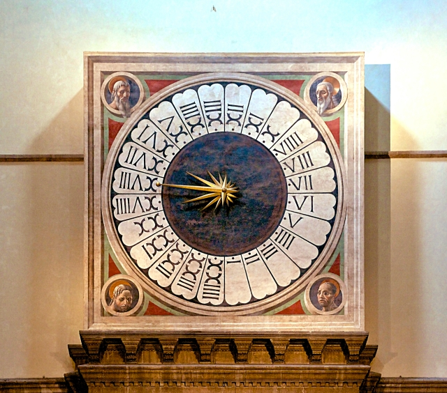 Florence Cathedral 24-Hour Clock. Credit: Wikimedia Commons